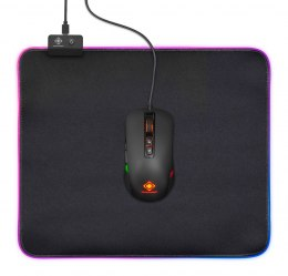 PODKŁADKA GAMING GAMINGOWA POD MYSZ LED RGB 32x27